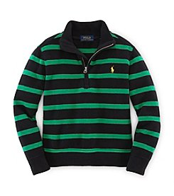 Ralph Lauren Childrenswear Boys' 2T-20 Striped Half-Zip Pullover