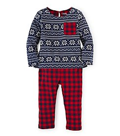 Chaps® Baby Girls' 12-24 Month Snowflake Sweater Set