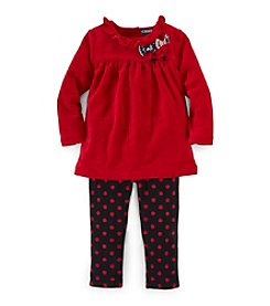 Chaps® Baby Girls' Velour Leggings Set