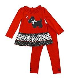 Nannette® Baby Girls' 12-24 Month 2-pc. Knit Pants Set