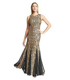 Calvin Klein Geo Sequin Gown
