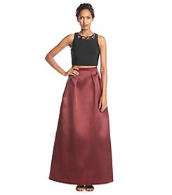 Xscape Satin Two Piece Ballgown