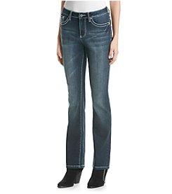 Earl Jean® Swirl Stud Stitch Flap Slim Bootcut Jean