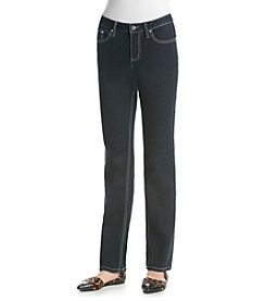 Earl Jean® Reverse Denim Pocket Straight Leg Jean