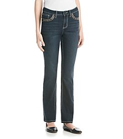 Earl Jean® Copper Stitch Bling Flap Slim Bootcut Jean