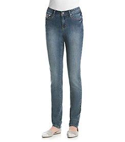 Earl Jean® V-Stitch Bling Flat Pocket Skinny Jean
