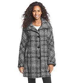 Ellen Tracy® Novelty Stand Collar Coat