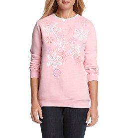 Breckenridge® Crewneck Embellished Fleece Sweatshirt