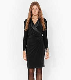 Lauren Ralph Lauren® Satin-Trim Jersey Dress