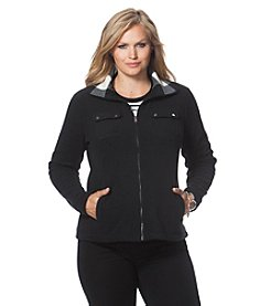 Chaps® Plus Size Fleece Track Jacket