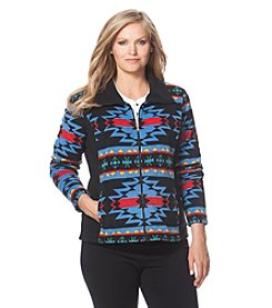 Chaps® Plus Size Southwestern Fleece Track Jacket