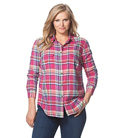 Chaps® Plus Size Plaid Twill Workshirt