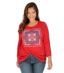 Lucky Brand® Plus Size Medallion Tee