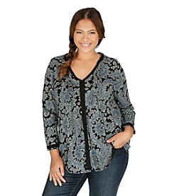 Lucky Brand® Plus Size Paisley Print Top