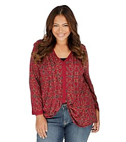 Lucky Brand® Plus Size Vintage Print Top