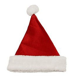 Traditional Red and White Christmas Santa Hat