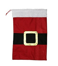 Santa Claus Belt Buckle Christmas Gift Bag Sack