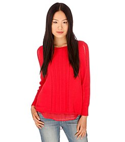 Lucky Brand® Swiss Dot Sweater