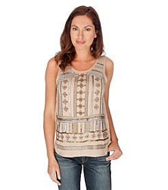 Lucky Brand Beaded Crepe Tank