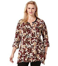 Rafaella&Reg; Plus Size Floral Print Tunic