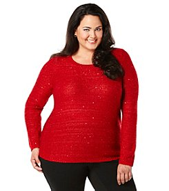Rafaella® Plus Size Sequin Sweater