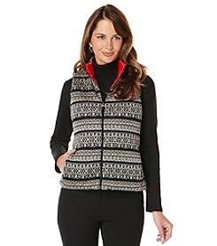 Rafaella® Petites' Sweater Front Puffer Vest