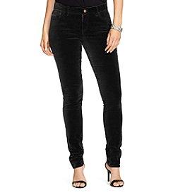 Lauren Ralph Lauren® Plus Size Velvet Skinny Pant