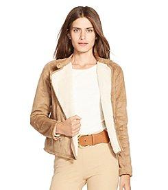 Lauren Ralph Lauren® Petites' Faux-Suede Full-Zip Jacket