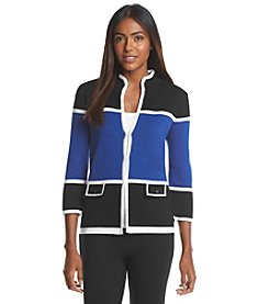 Kasper® Colorblock Cardigan