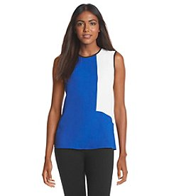 Nine West® Crepe Colorblock Blouse