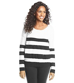 DKNY JEANS® Striped Eyelash Pullover