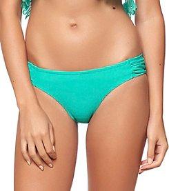 Jessica Simpson Side Shirred Hipster Swim Bottoms
