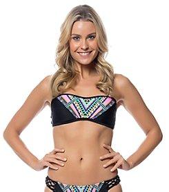 Jessica Simpson Braid Back Bandeau Swim Top