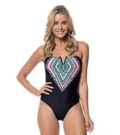 Jessica Simpson Braid Back Maillot One-Piece Swimsuit
