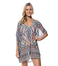 Jessica Simpson Chiffon Border Cover-Up