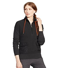 Lauren Active®  Mockneck Half-Zip Sweater