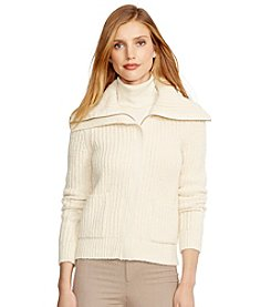 Lauren Jeans Co.® Cotton-Blend Full-Zip Cardigan