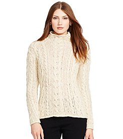 Lauren Jeans Co.® Cable-Knit Rollneck Sweater