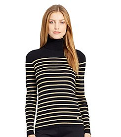 Lauren Ralph Lauren® Striped Turtleneck Sweater