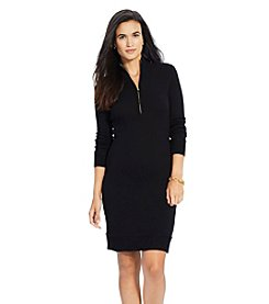 Lauren Ralph Lauren® Cotton Mockneck Sweater Dress