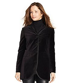 Lauren Ralph Lauren® Velvet Three-Button Jacket