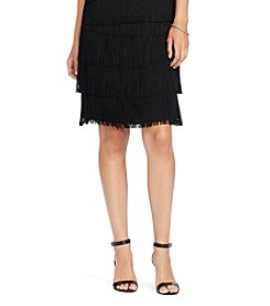 Lauren Ralph Lauren Fringed Straight Skirt