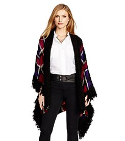 Lauren Ralph Lauren® Fringed Plaid Poncho