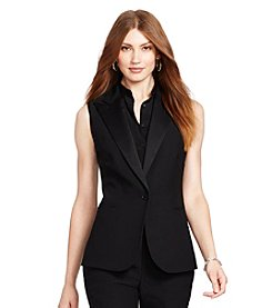 Lauren Ralph Lauren® Single-Button Crepe Vest