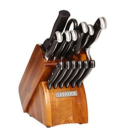Sabatier® 14-pc. Triple Rivet Cutlery Set with Acacia Block