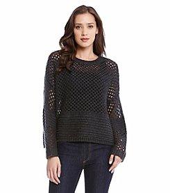 Karen Kane® Crochet Knit Pullover