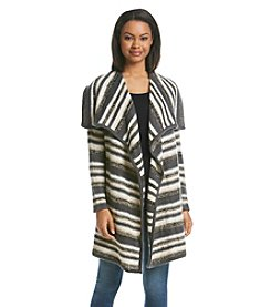 Kensie® Striped Cardigan