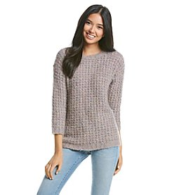Kensie® Waffle Boucle Pullover Sweater