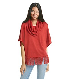 Sequin Hearts® Fringe Poncho