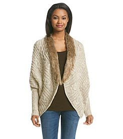 XOXO® Faux Fur Cardigan